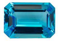 Topaze bleue Swiss Blue 14x10mm (traitée)
