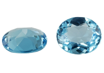 Topaze bleue Swiss Blue ovale (traitée)