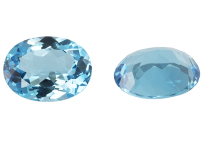 Topaze bleue Swiss Blue ovale calibrée 16.00ct (traitée)