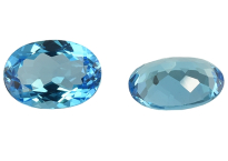 Topaze bleue Swiss Blue ovale calibrée 16.96ct (traitée)