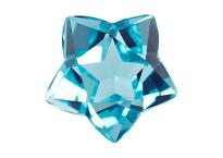 Topaze bleue Sky Blue étoile de david