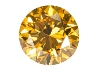 "Diamant jaune ""natural fancy intense yellow"" 0.52ct"