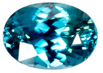 Zircon bleu 1.24ct