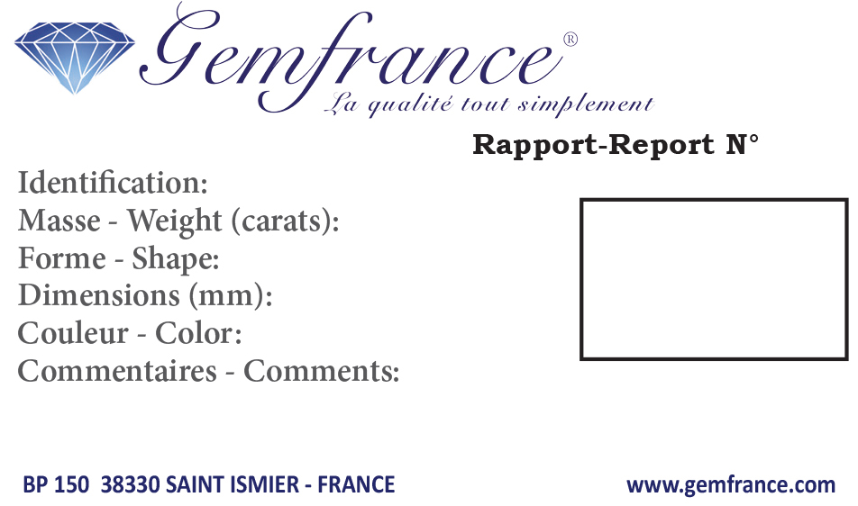 certificat gemmologique Gemfrance