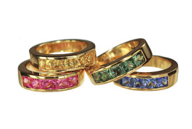 Four sapphires rings