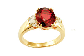 Mogok spinel ring
