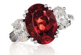 HAMILTON-Hank B. Siegeli-Congo andesine-diamonds-ring