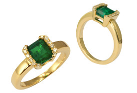 Ural emerald ring