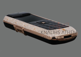 2010-09-12: a cellular phone covered with diamonds