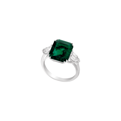 "Bague argent rhodié et ""burmalite"" - Rhodium-plated silver with green and white ""burmalite"""