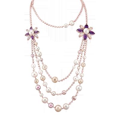 Collier perles lumières de Paris - Paris's light pearls collar
