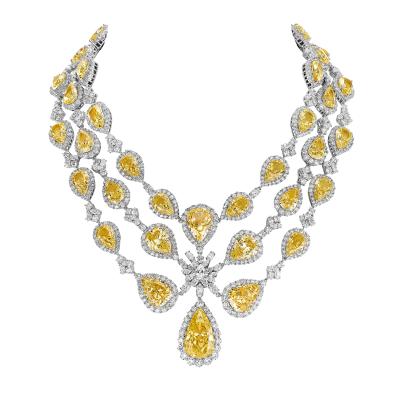 """Collier royal, """"Burmalite"""" jonquille - Royal collar, daffodil """"burmalite"""""""
