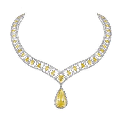 "Collier virtuose, ""Burmalite"" jonquille - Virtuose collar, Daffodil ""Burmalite"""
