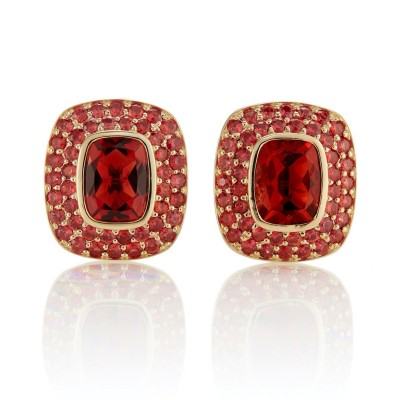 #GUMP #Earrings #Andesine #Red sapphire #Boucles d'oreilles