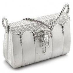Sac Ginza Tanaka en diamant et platine - Diamond & platinium handbag by Ginza Tanaka