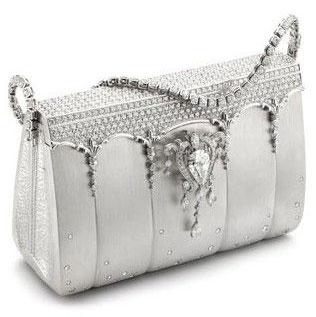 6013851335 Sac Ginza Tanaka en diamant et platine - Diamond & platinium handbag by  Ginza Tanaka