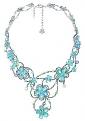 Collection Disney, collier Tiana, Aigue marine et diamants Chopard©