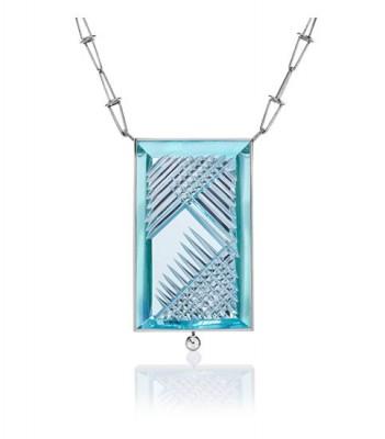 Collier Dom Pedro, Aigue-marine, diamants, Atelier Munsteiner