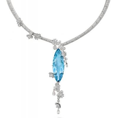 Collier Kyoto, Aigue-marine, diamants, BOODLES