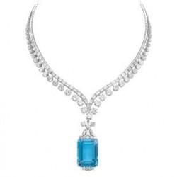 Collier diamants et Aigue-marine,  Tiffany & Co