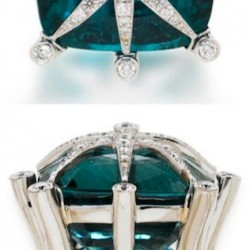 Bague, Apatite et diamants, Tony Duquette