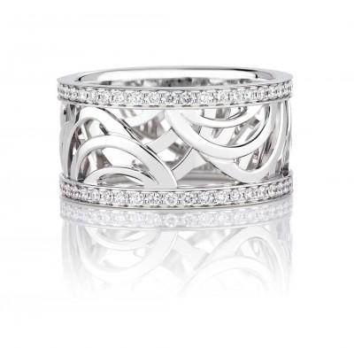 Bague Collection, or blanc, diamants blancs ©DE BEERS