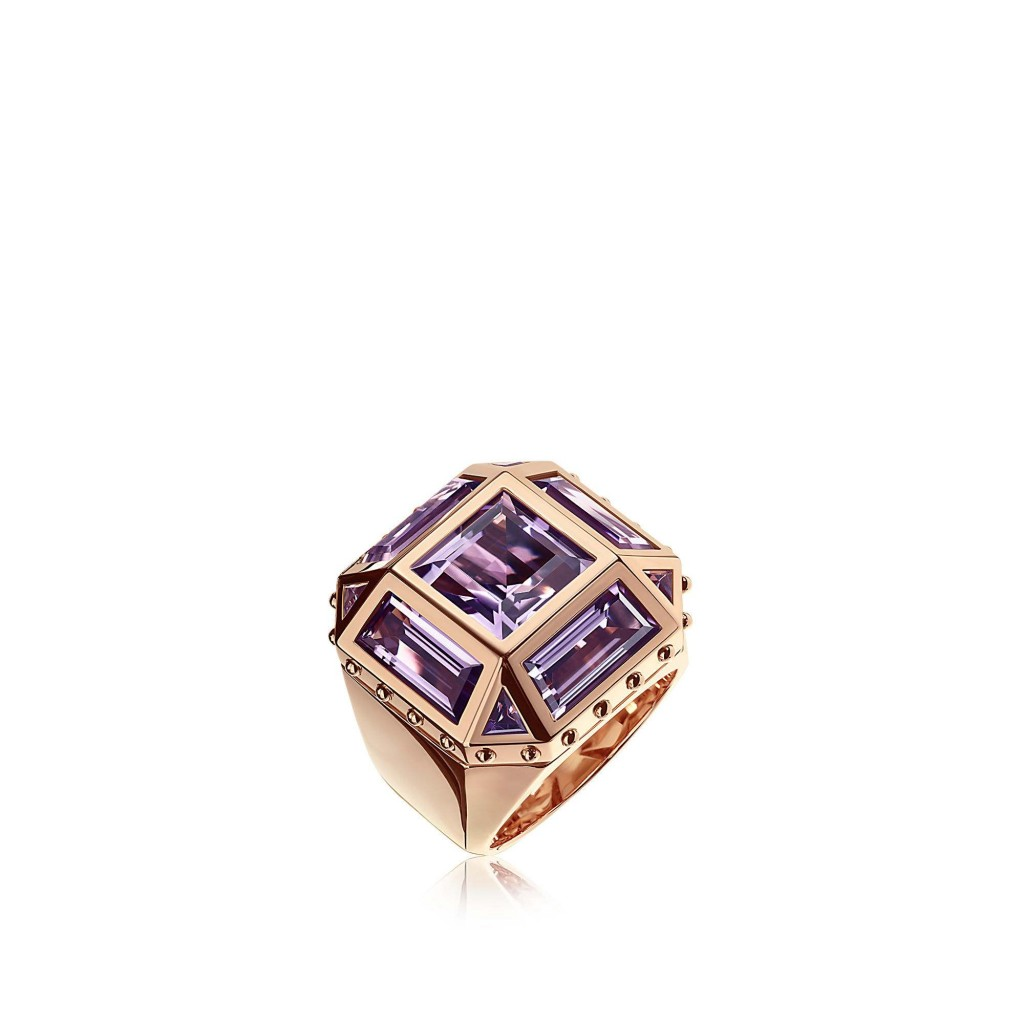 Bague Emprise, or rose, améthyste, LOUIS VUITTON