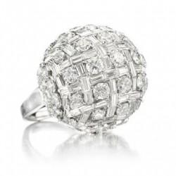 Bague dome de diamants, or blanc, diamants blancs ©HARRY WINSTON