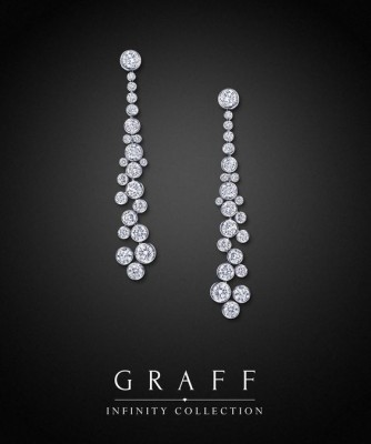 Boucle d'oreille collectin Infinity, diamants blancs, ©GRAFF
