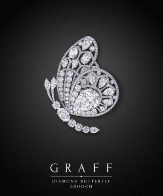 Broche Diamond Butterfly, diamants blancs, ©GRAFF