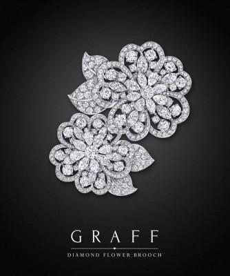 Broche Diamond Flower, collection Unique Jewels, diamants blancs, ©GRAFF