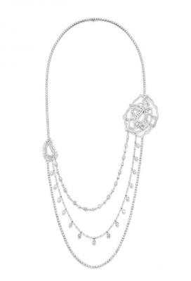 Collection Couture Precieuse , Sautoir, or blanc, diamants, ©PIAGET