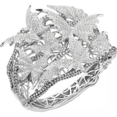 Collection Flight  by Night, bracelet Pavé, or blanc, diamants, ©Stephen Webster