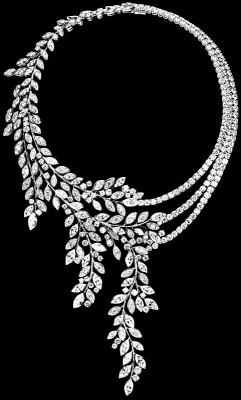 Collection Limelight, collier Garden Diamond Garland, or blanc 18K diamants, ©PIAGET