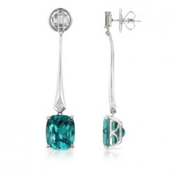 Collection Winter 2014, boucle d'oreille, Apatite, or blanc, diamants, KAT FLORENCE