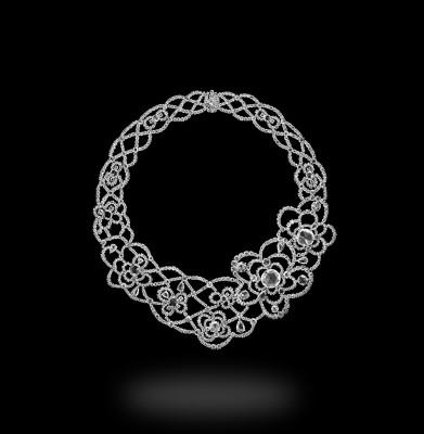 Collier Cecilia en platine et diamants blancs, ©CARNET