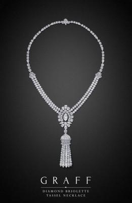 Collier Diamond Briolette tassel diamants blancs, ©GRAFF
