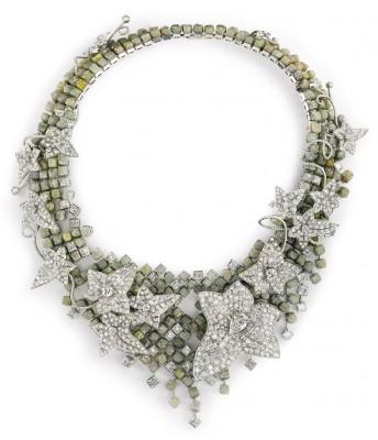 Collier Lierre de Paris, diamants bruts et facettés,  2012 Biennale des Antiquaires, ©BOUCHERON