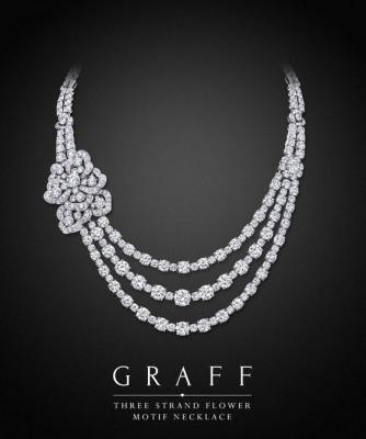 Collier Three Strand Flower Motif, diamants blancs, ©GRAFF