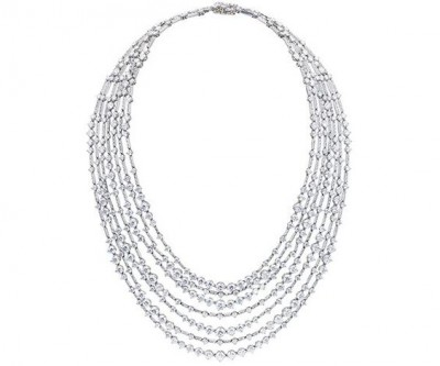 Collier collection, or blanc, diamants blancs ©DE BEERS