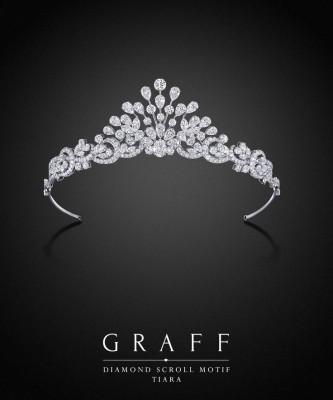 Diadème Diamond scroll motif, diamants blancs, ©GRAFF