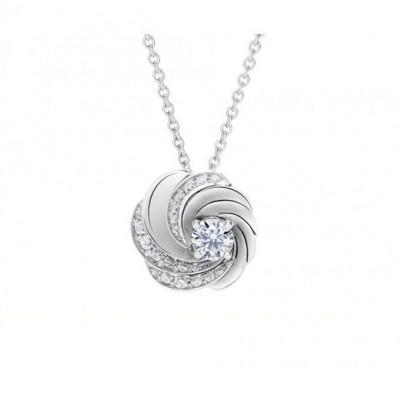 Pendentif collection Aria, , or blanc, diamants blancs, ©DE BEERS