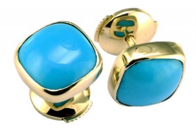 boucles d'oreilles en Turquoise - Création Laurent SIKIRDJI