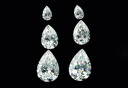 Paire de diamants blancs - White diamonds pair