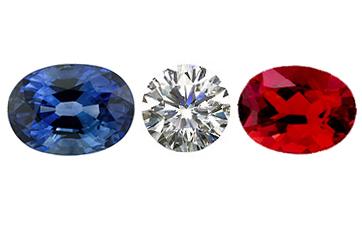 Saphir d'Auvergne/Diamant/Andésine - French sapphire/diamond/Andesine