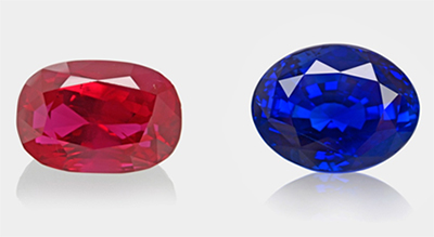 "Rubis ""sans de pigeon"" & saphir ""bleu royal"" - ""Pigeon blood"" ruby & ""royal blue"" sapphire"