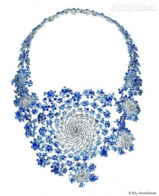 #BOUCHEREON #Necklace #Diamonds #Sapphires