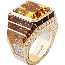 #BOUCHEREON #Ring #Heliodor #Diamond #YellowGold
