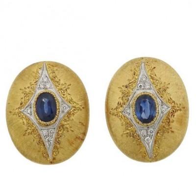 BUCCELLATI #earrings #Sapphires #Diamonds