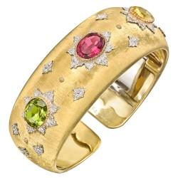 BUCCELLATI-multicolored-gemstone-cuff-bracelet